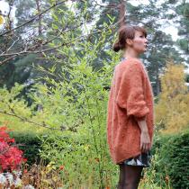 Fuzzy dottejakke - En pusete og lett jakke full av dotter