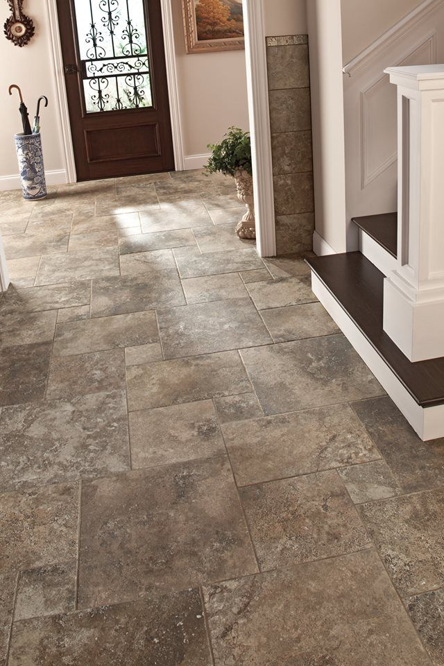 When it comes to home entryways  practicality is key  Consider a     Consider a stone look floor tile  which offers natural shade variation to  help mask those wet or muddy footprints  While also providing the  durability