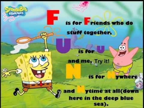 Spongebob Ft Plankton F U N Song Lyrics Youtube Spongebob Songs Fun Songs Spongebob Jokes