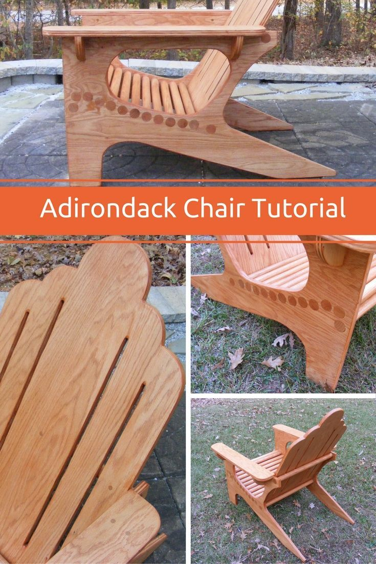 In This Tutorial I Show You Step By Step How I Made This Unique.  Woodworking TipsOak PlywoodAdirondack Chair ...