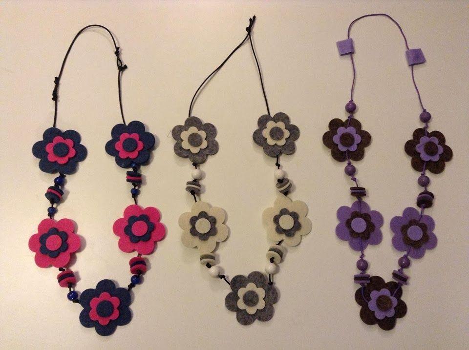 classico varietà larghe grande sconto Collane feltro | fabric necklaces | Collana di feltro ...