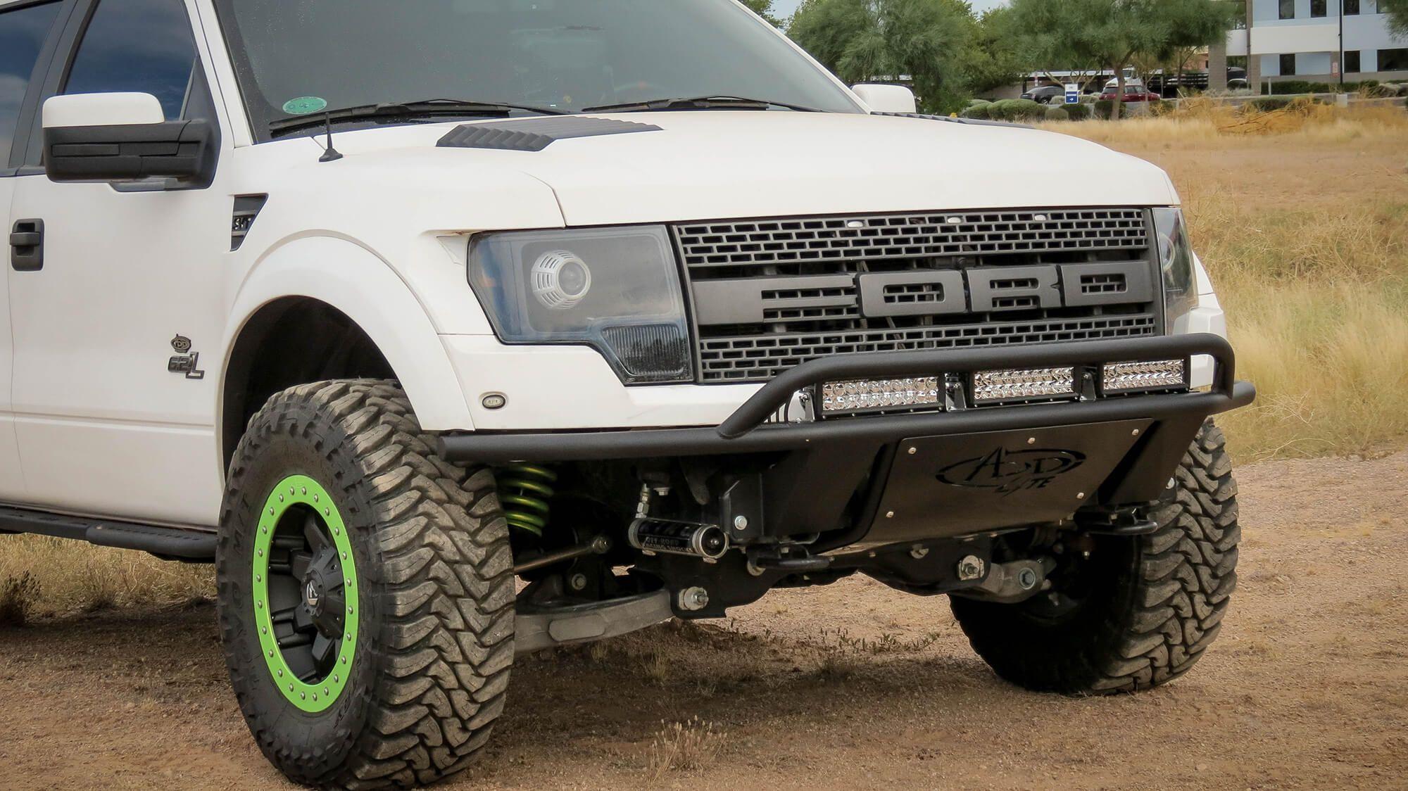 Buy 2010 2014 ford raptor add lite front bumper