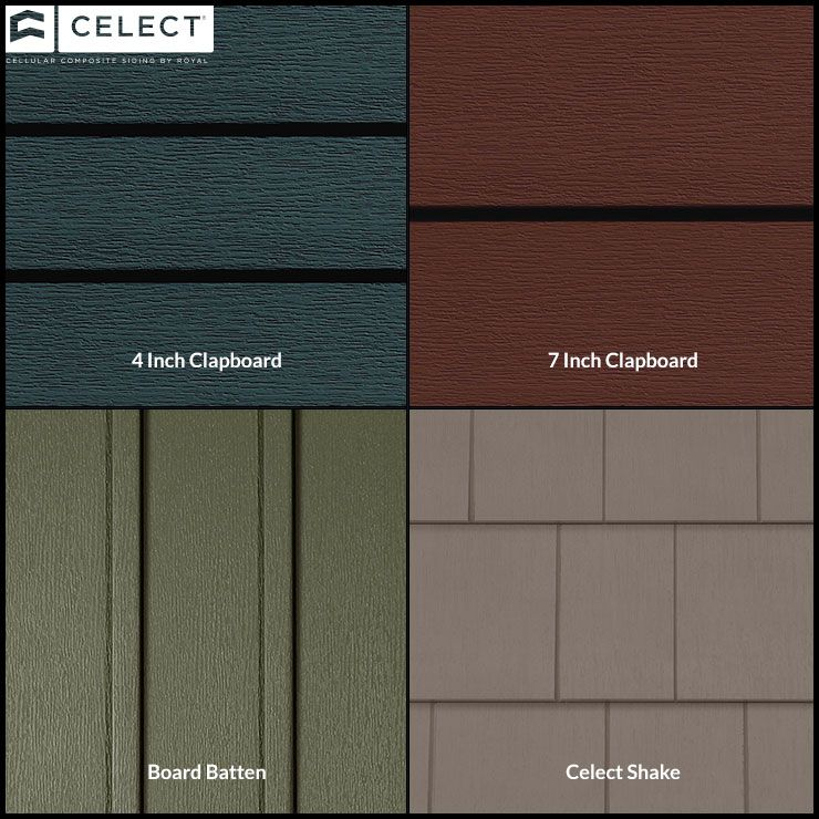 We Have Multiple Different Types Of Siding Here You Can See That We Offer 4 Inch Clapboard 7 Inch Clapboard B House Siding Vynil Siding Vinyl Siding Colors