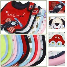 Cotton Baby Infants kids bibs/ baby lunch bibs/ cute towel Layer Waterproof