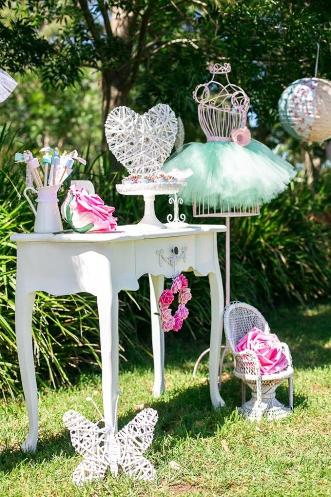 Ballerina Birthday Party via KarasPartyIdeas.com:  Set The Scene with some props