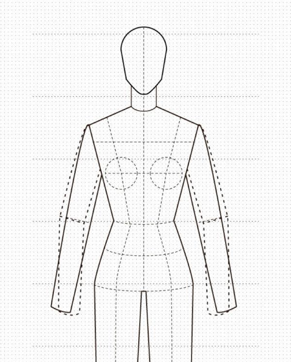 Maniqui De Mujer Para Diseno Plano O Fichas Tecnicas Figurines De Moda Plantilla Para Diseno De Moda Ilustracion De Moda