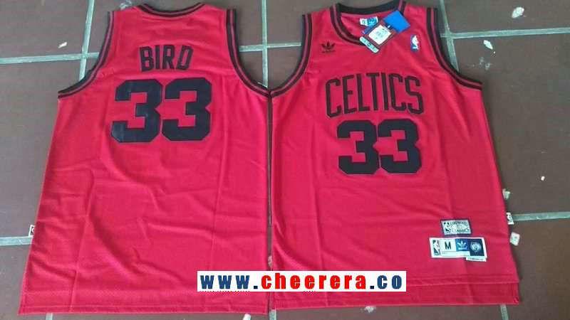 pretty nice 9825c 95f2f Men's Boston Celtics #33 Larry Bird Red Hardwood Classics ...