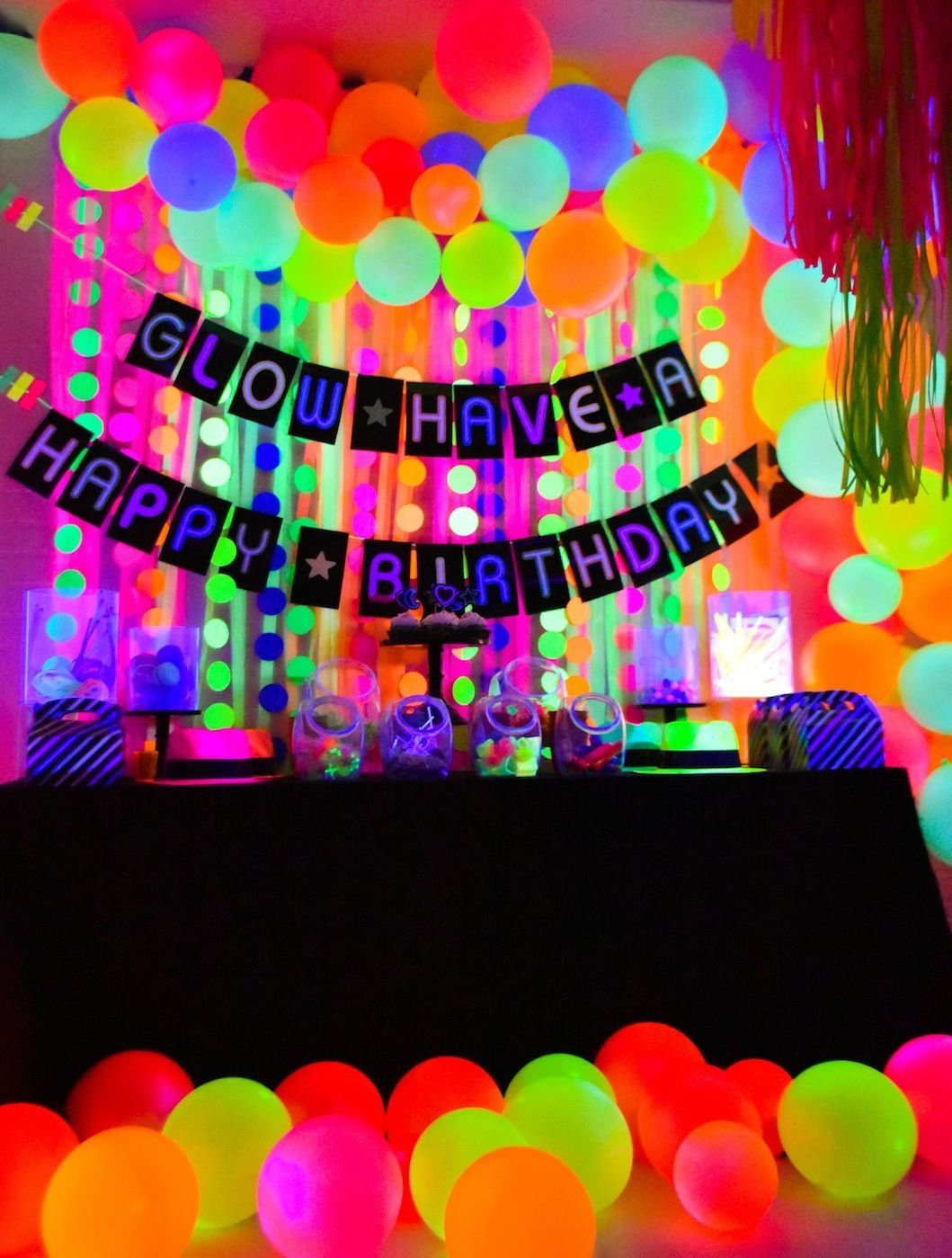 Glow In The Dark Party Ideas In 2020 Neon Party Neon Birthday