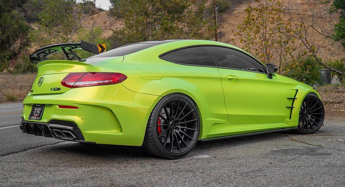Lime Green Mercedes Amg C63 S Coupe Is One Flamboyant Ride