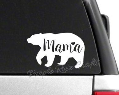 Mama Bear Decal Sticker Cling For Window Car Cup Laptop Tumbler Tablet Mom