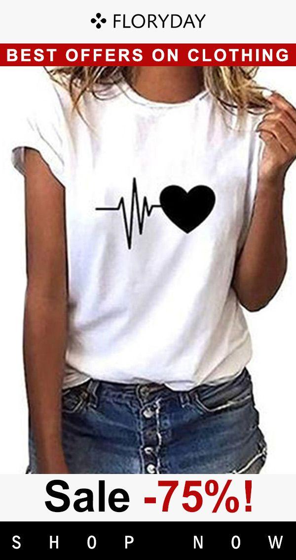 Geometric round neck short sleeve t-shirt