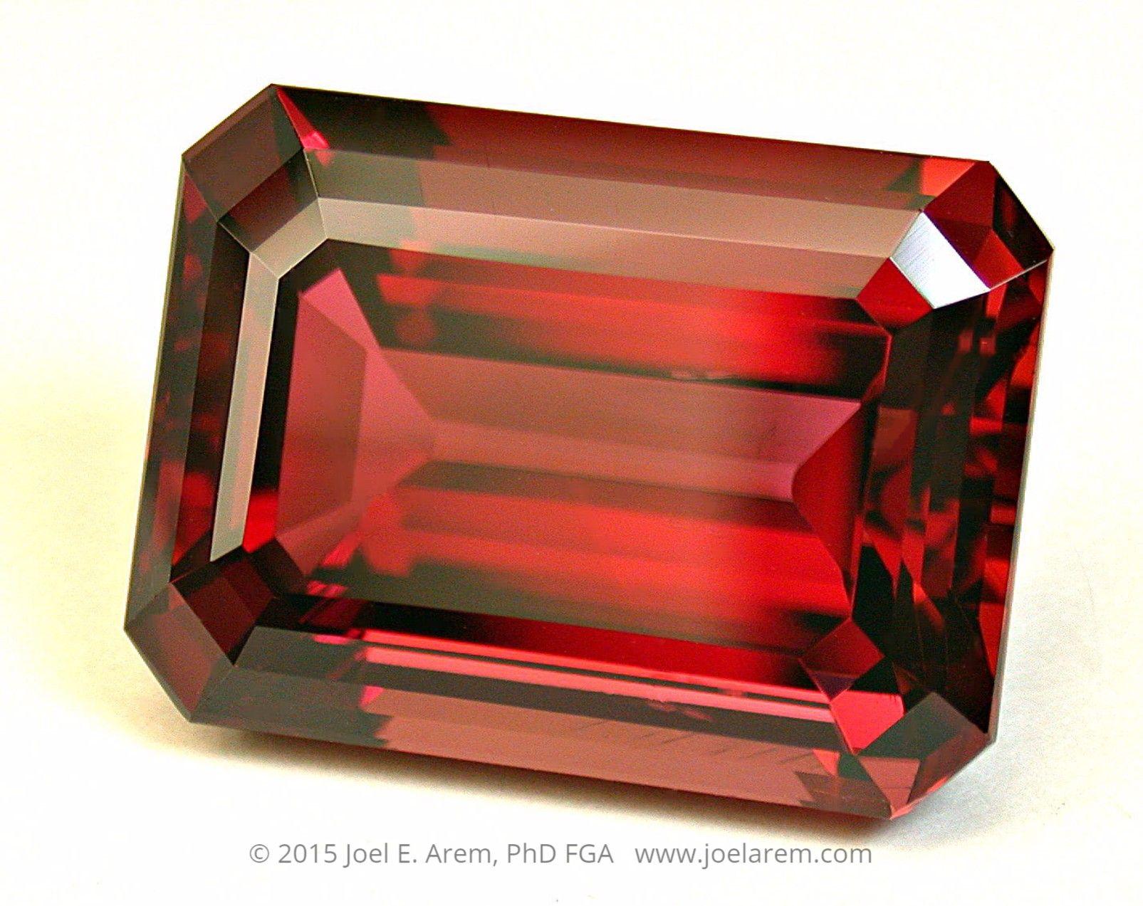 RUBELLITE TOURMALINE, 36.85 carats, in a unique and