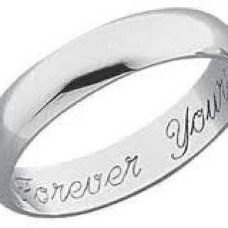 I like the idea of engraving Always on the inside Marriagement