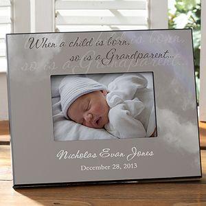 Grandparents Birth Announcement FrameFree Shipping Personalized Birth Announcement New Grandparent Frame Cute Birth Announcements