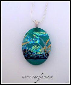 AAE Glass Art Studio Blog: Pelican Beach Fused Glass Decal Pendant Tutorial