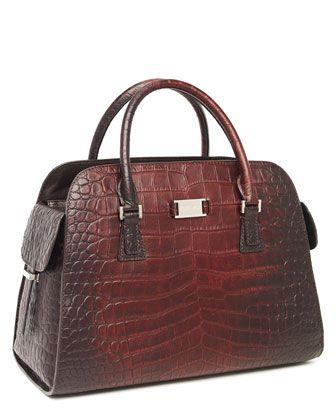f62e5f56ceb8 I really want this bag! - Michael Kors Gia Satchel, Crocodile-Embossed .