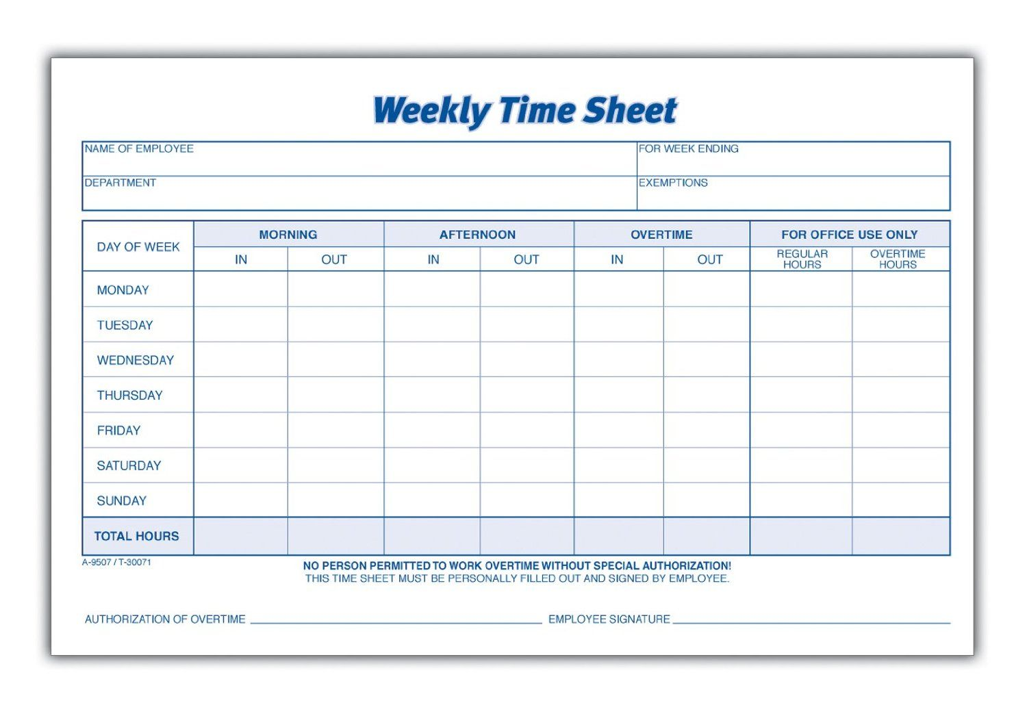 Printable Timesheets For Employees