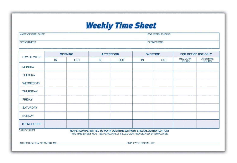 personal timesheet