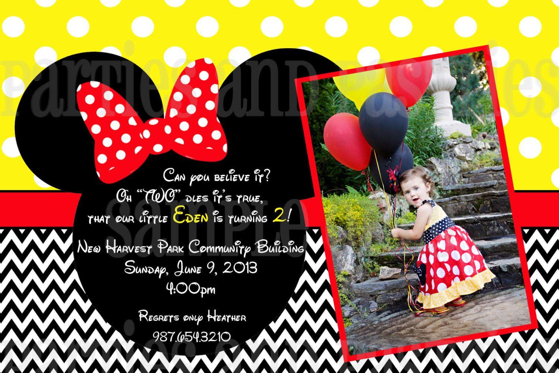 PHOTO INVITATION or Thank You - digital file - Girl Birthday ...
