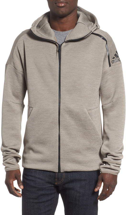 adidas Originals ID Stadium Full Zip Hood Medium Solid Grey