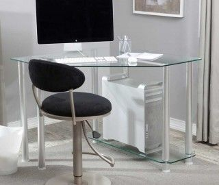 17 Extraordinary Small Glass Corner Desk Photograph Ideas Glass
