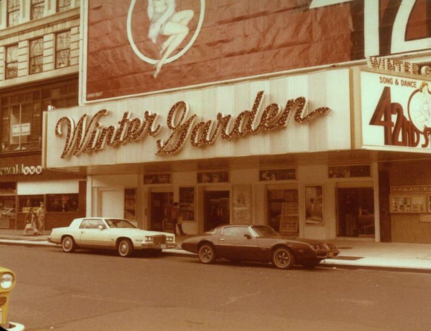 Broadway marquee 42nd Street Winter Garden Theatre   Theatre ...