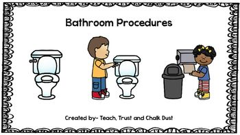 Freebie bathroom procedures kindergarten ideas - Bathroom procedures for preschool ...
