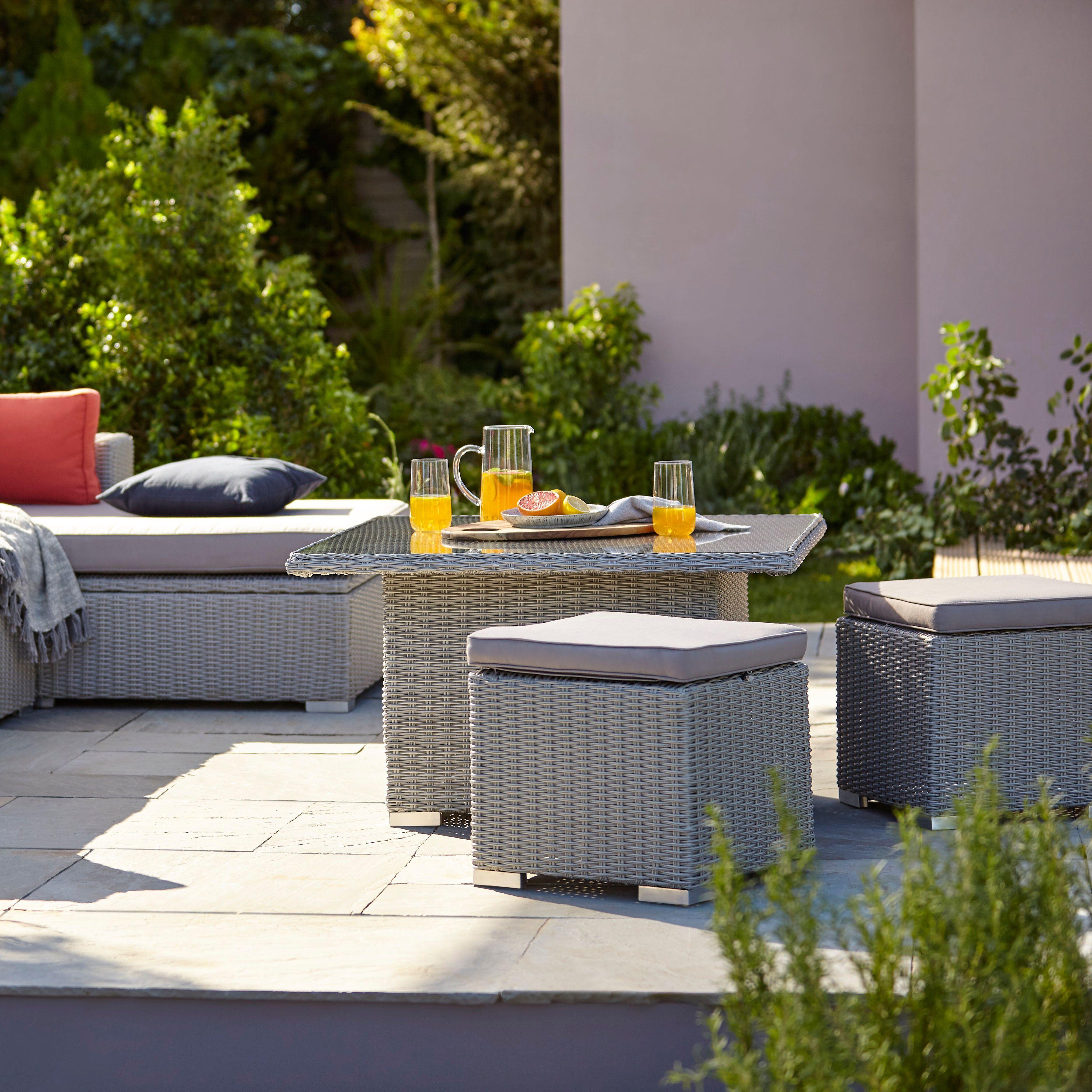 Gabbs Synthetic Wicker 8 Seater Sofagrey  Outdoor patio, Garden