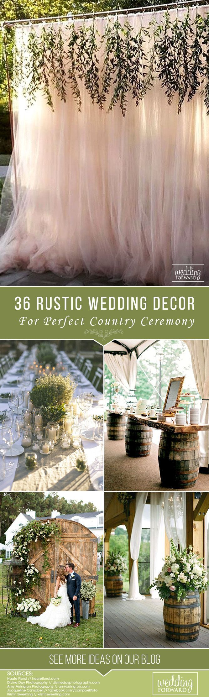 36 Rustic Wedding Decor For Country Ceremony ❤ Planning a country wedding? We are here to help you with some nice rustic wedding decor ideas! Let's see how to use wood, rustic materials, bouquets, boots.