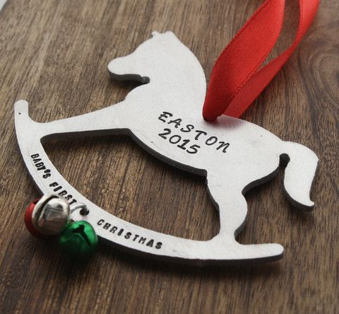 Babys First Christmas Rocking Horse Ornament 1st Christmas