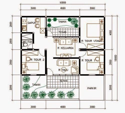 Rumah Mungil di Lahan 10 x 10 M2 - Eramuslim   Rumah Asik   Pinterest   Bed room House and Room