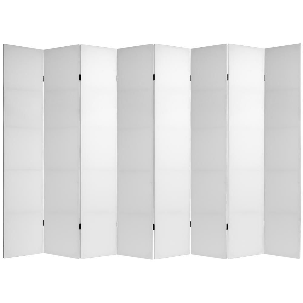 Oriental Furniture 7 Ft White Do It Yourself Canvas 8 Panel Room Divider Can 7blank 8p The Home Depot Room Divider Oriental Furniture Panel Room Divider