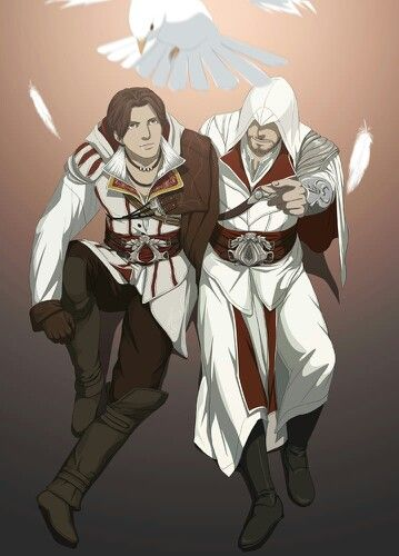 Young And Oldef Ezio By Doubleleaf On Deviantart Personajes De