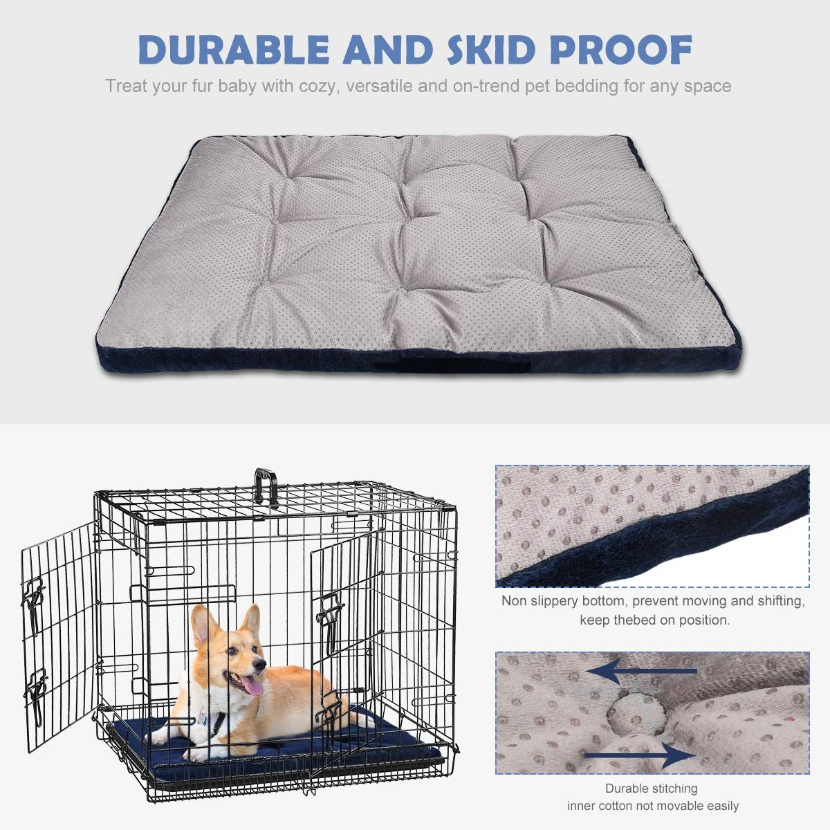 Shu Ufanro Dog Bed Crate Pad Washable Anti Slip Kennel Mat For Large Medium Small Dogs And Cats 30 36 42 You Can Get Ad Dog Bed Dog Kennel Mats Small Dogs