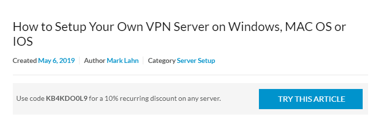 How To Run Your Own Vpn