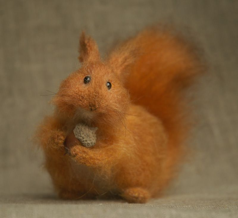 red squirrel by artist Natasha Fadeeva