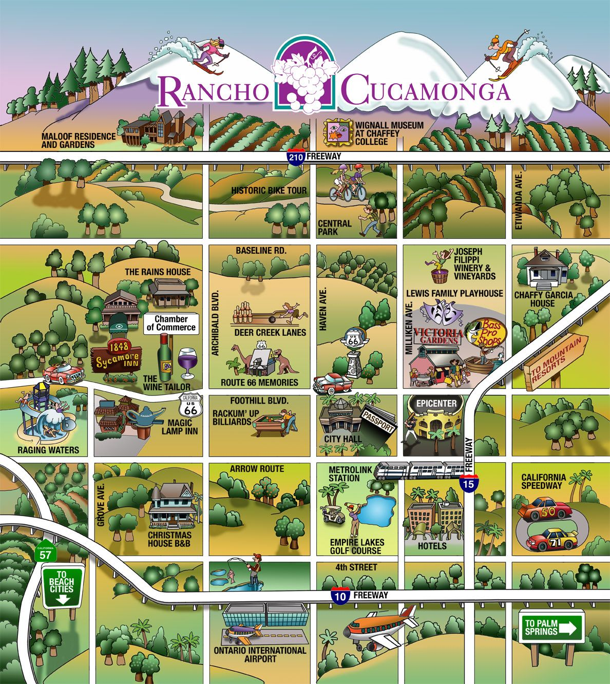Stan Gorman Rancho Cucamonga fun map Rancho Cucamonga City by