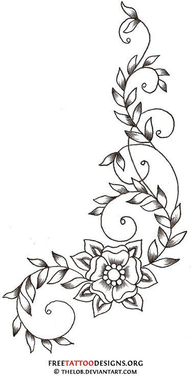 7fb75d8ac9fb8d17e841e2f9b5960a58 Jpg 374 740 Vine Tattoos Flower Vine Tattoos Flower Tattoo Designs