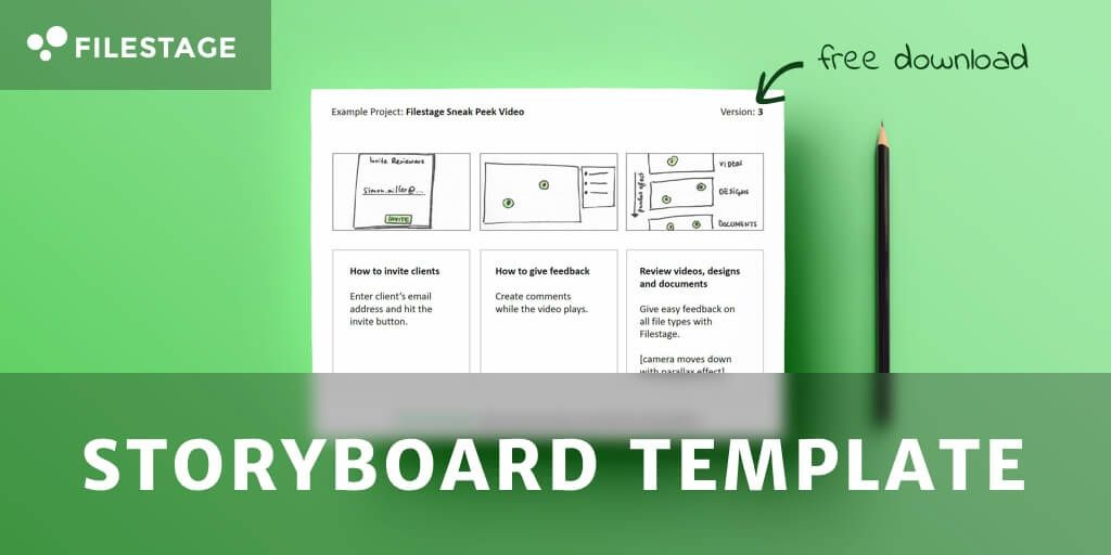 download-storyboard-template_komprimiert Personas Pinterest - sample video storyboard template