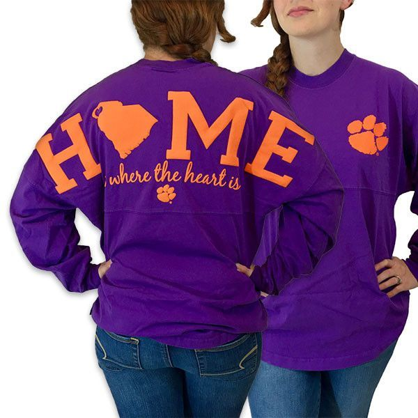 South Carolina Clemson Tigers Women's Home Spirit Jersey Long ...