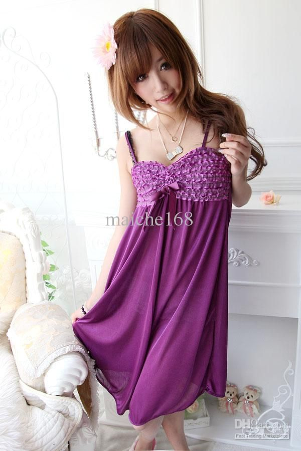 b50953e33ea2 Summer Women harness lace sexy silk nightgowns