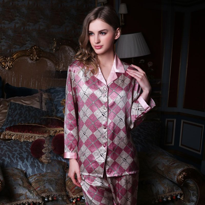 Women\'s Silk Nightgown & Robe Set 2 PCs #S841 | Silk sleepwear, Silk ...