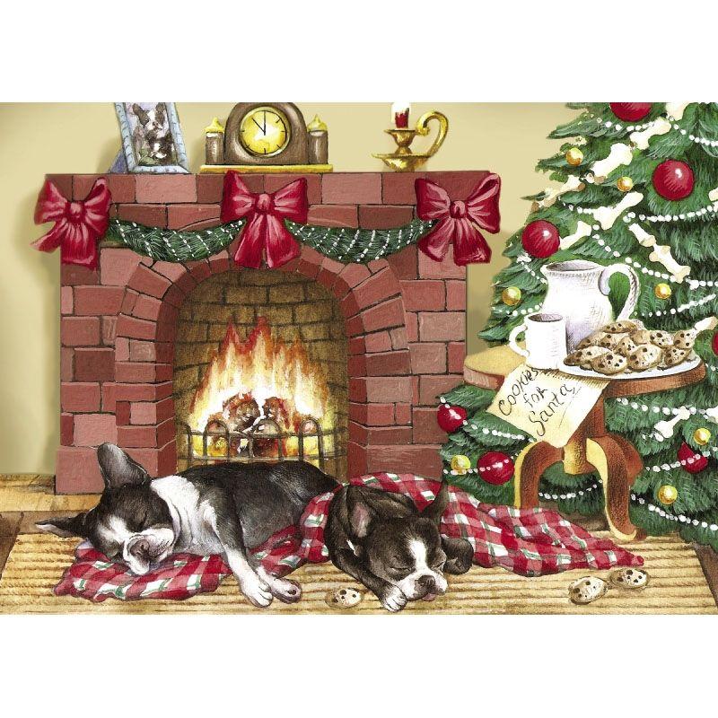 Boston Terrier Christmas Cards | The Danbury Mint | BT Art & Decor ...
