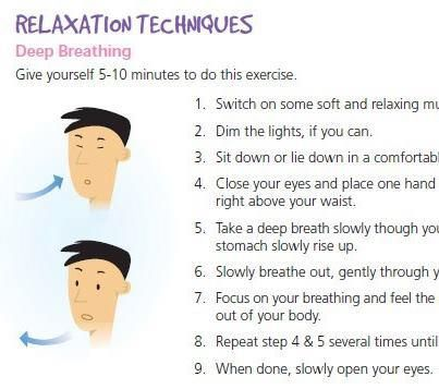 relaxation techniques deep breathing preparatory activities for
