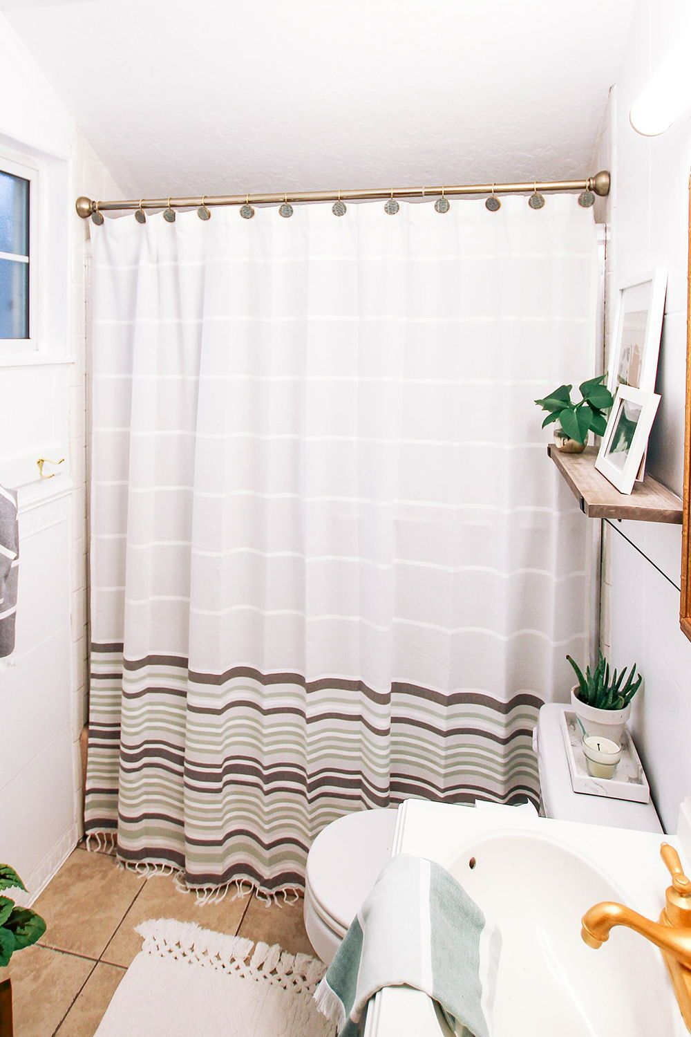 Home In 2020 Modern Shower Curtains Striped Shower Curtains