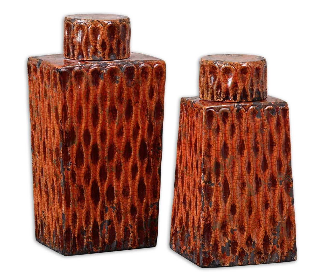 Accessories Raisa Containers Set of 2 by Uttermost
