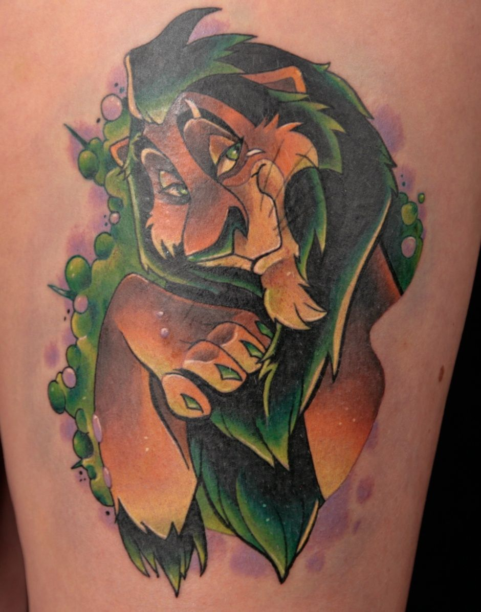 Adorable Scar Lion King Disney Tattoo Disney Tattoos Disney Characters Tattoos Lion King Tattoo