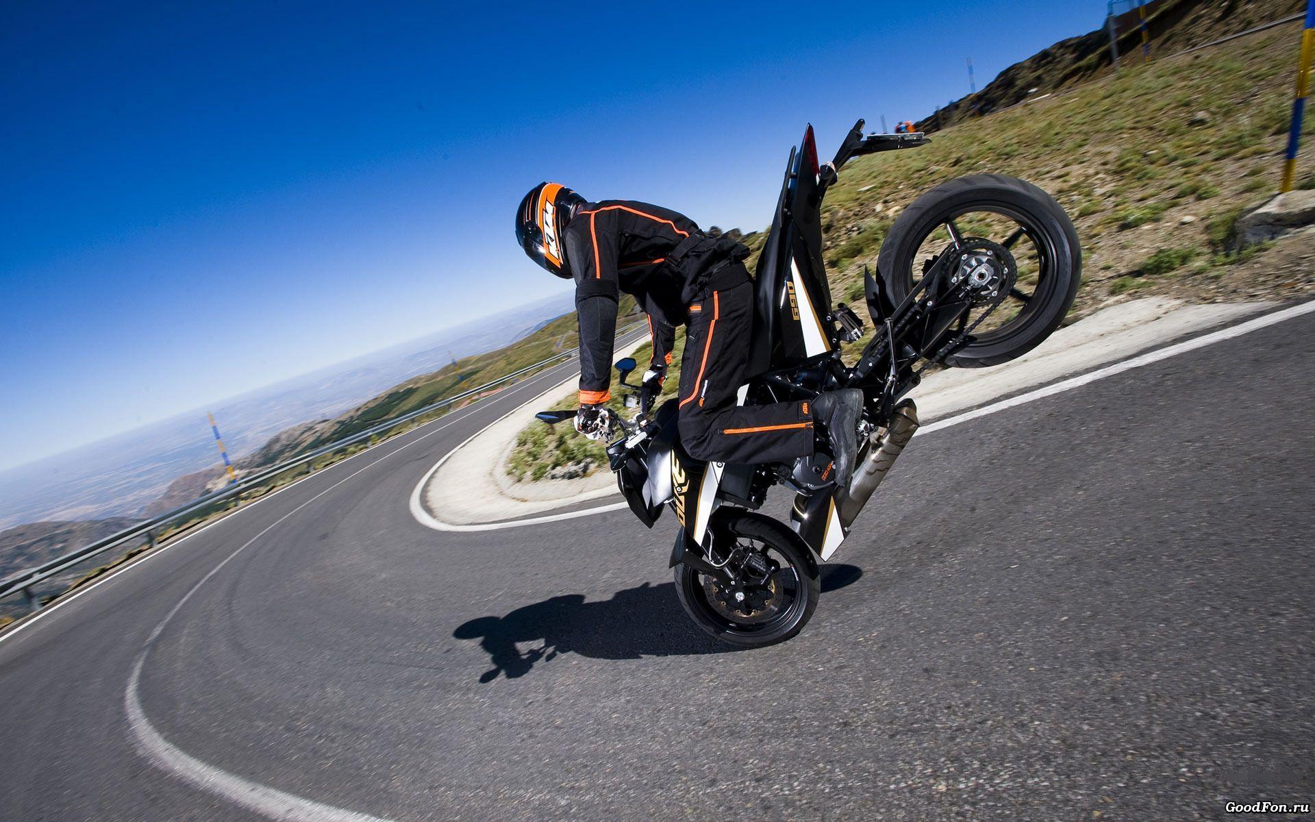 Supermoto ktm 690 stunt concept bikemotorcycletuned car tuning car - Ktm 690 Duke Stoppie Bikes Hd Wallpapers For Desktop