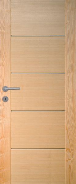 Porte intérieure contemporaine frêne | Portes en bois ...