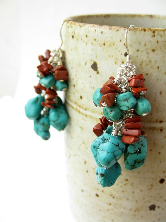 southwestern style gemstone earrings